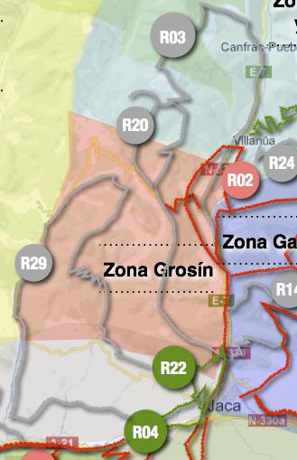 Mapa de rutas Zona Grosín