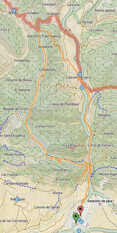Mapa Jaca Grosin