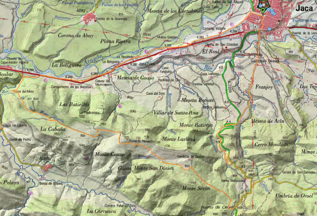 Mapa Ruta 23, Torre del Moro