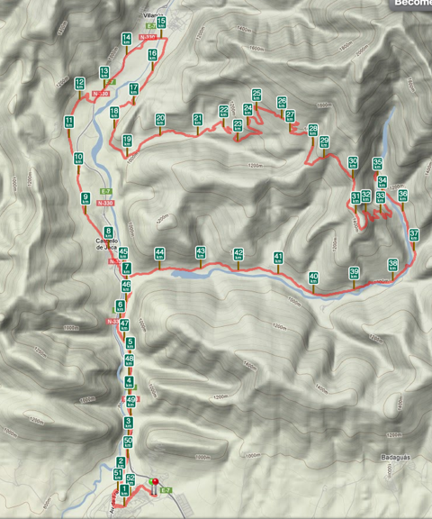 Mapa de la Ruta 02