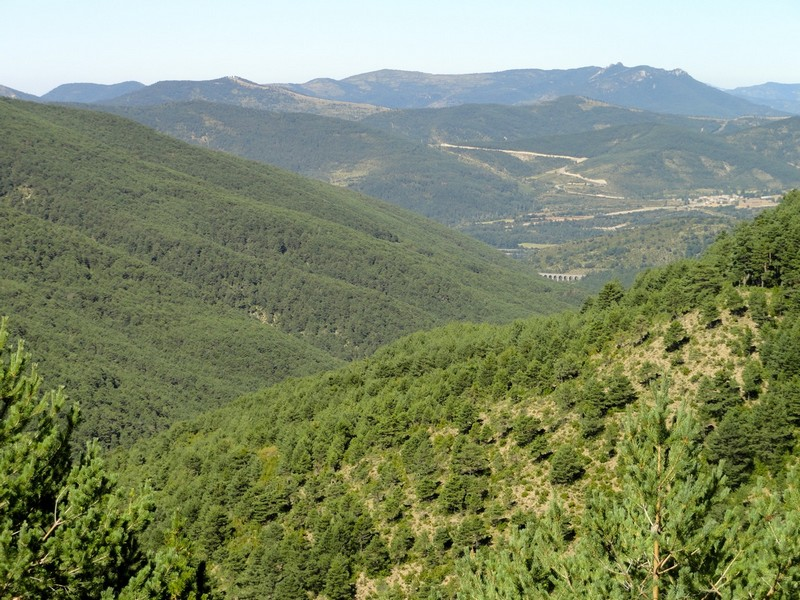 Vista Garcipollera, al fondo se ve el Viaducto