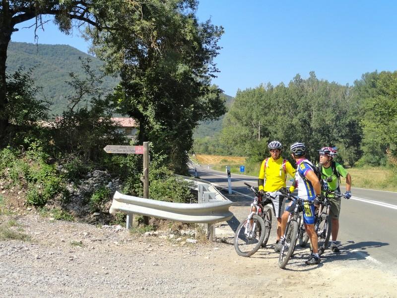 Camino de Santiago, junto a la carretera