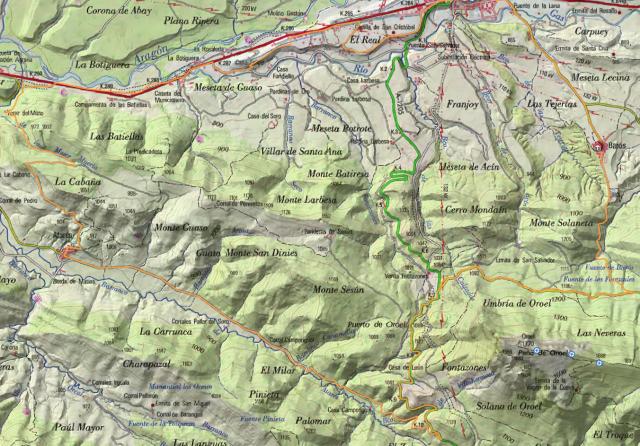 Mapa de la salida del 30 de marzo de 2.014