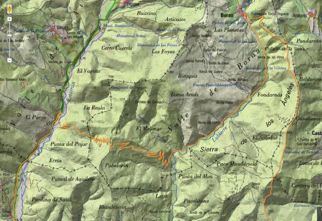 Mapa de detalle de la propuesta de Patri: Grosín + R 29