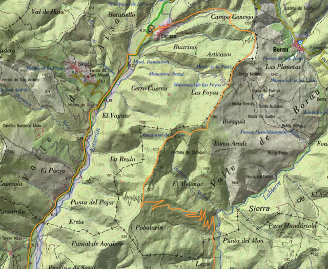 Mapa de detalle de la propuesta de Foncho: Ruta 29