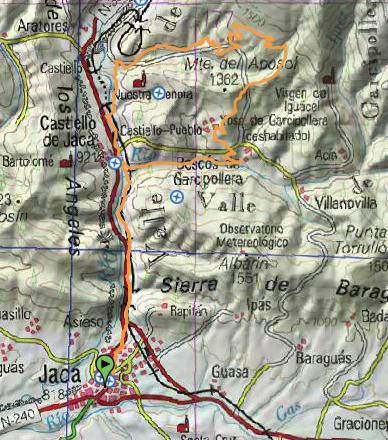 Mapa con toda la ruta