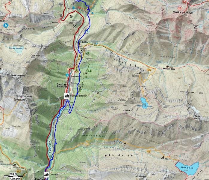 Mapa detalle Tramo 02