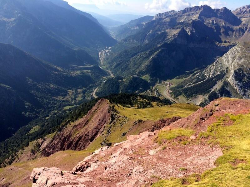 Vista desde cima Raca, hacia el Valle del Aragón