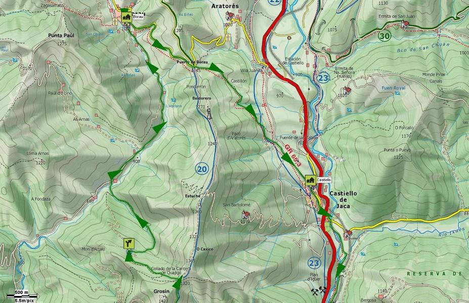 Mapa detalle sendas