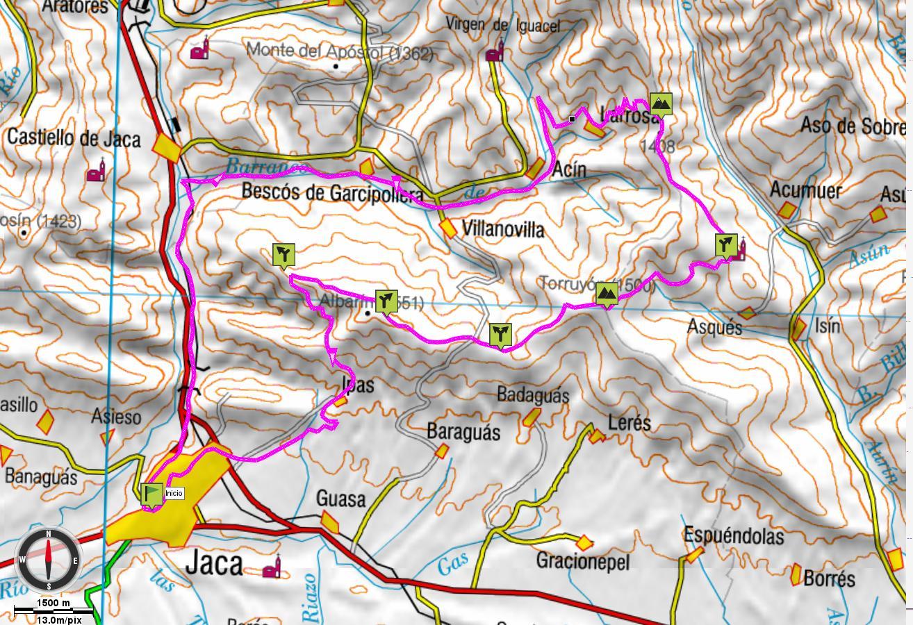 Mapa general de la ruta