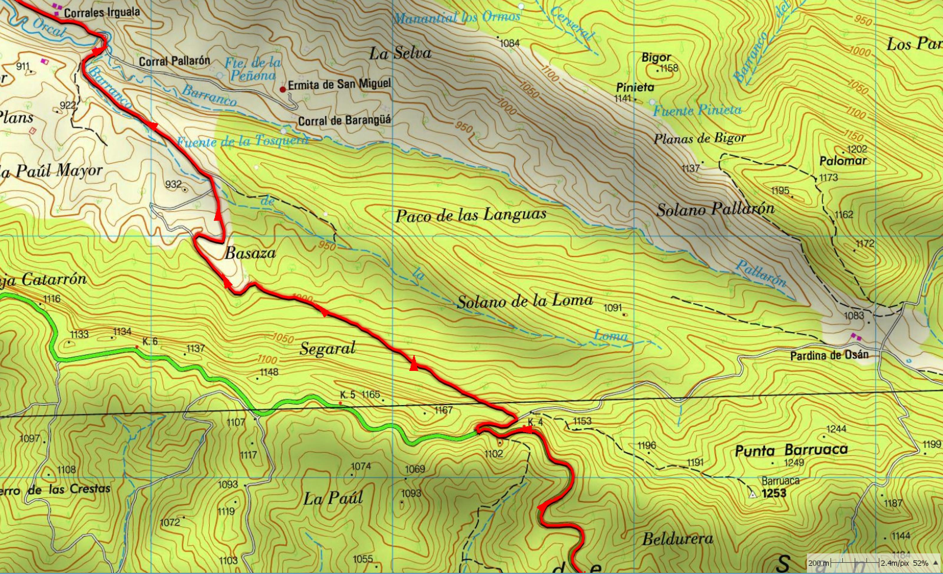 Mapa zona Segara / Paúl Mayor